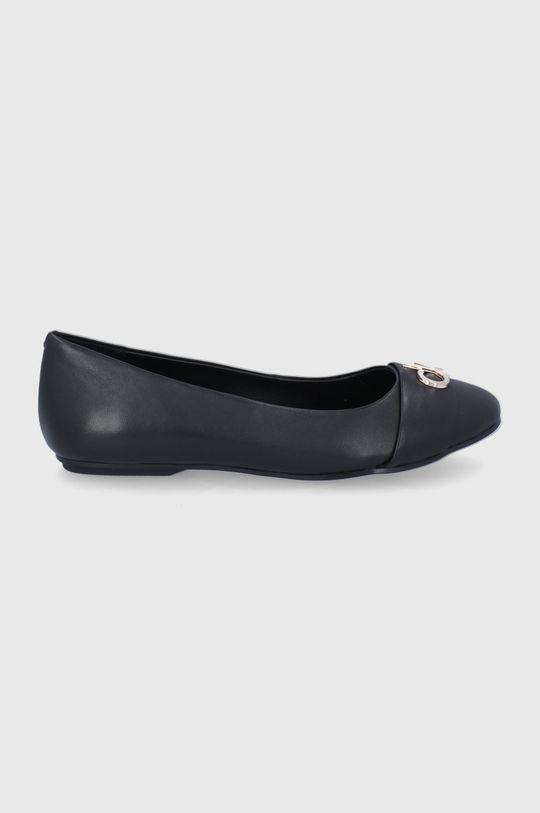 czarny Calvin Klein - Baleriny skórzane Damski