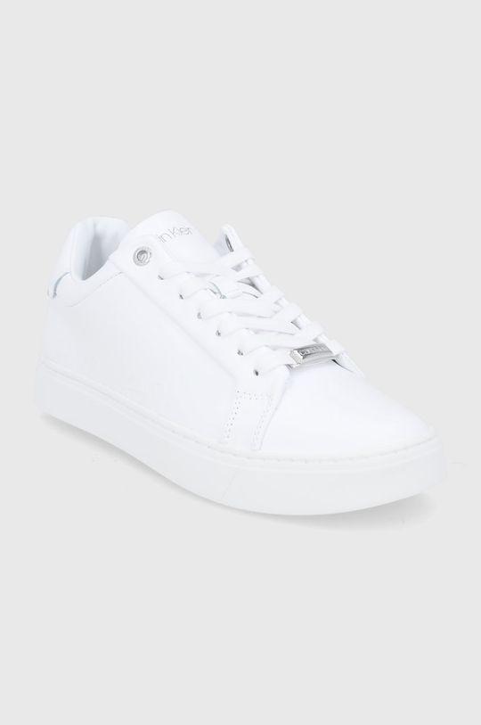 Calvin Klein - Buty skórzane biały