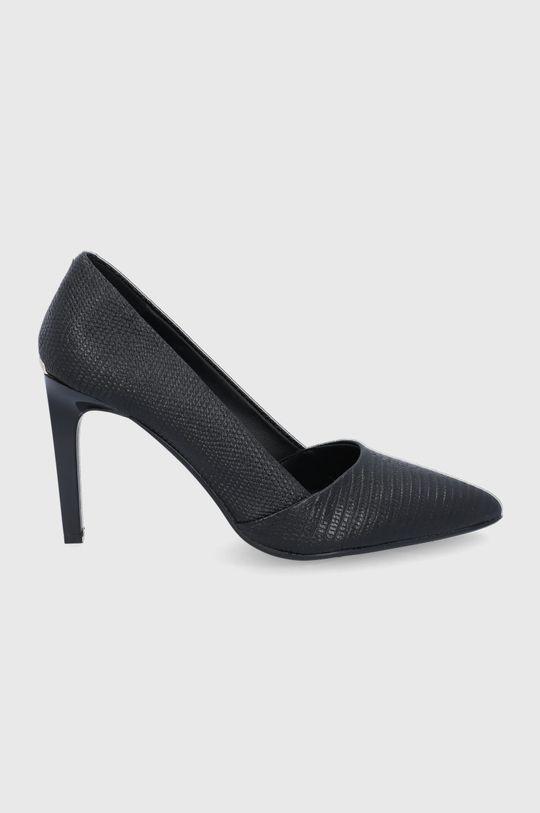 czarny Calvin Klein - Szpilki skórzane Damski