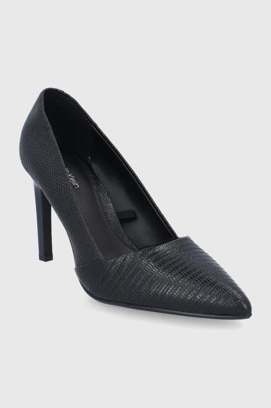 Calvin Klein - Szpilki skórzane czarny