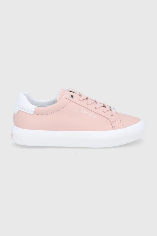 pastelowy różowy Calvin Klein - Buty skórzane Damski
