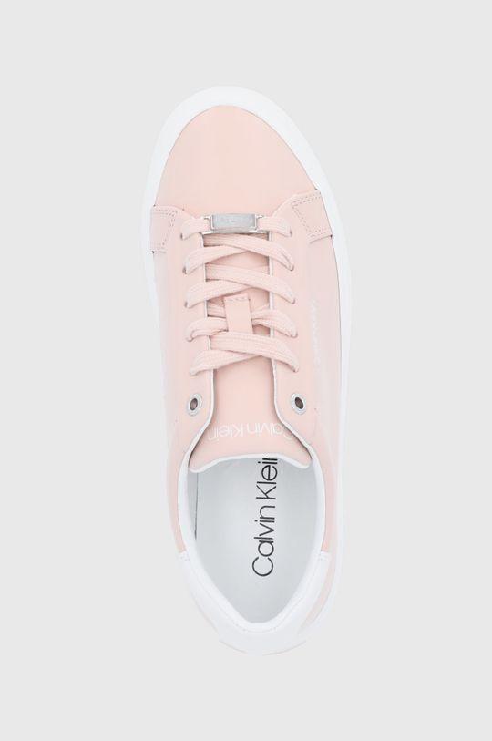 pastelowy różowy Calvin Klein - Buty skórzane