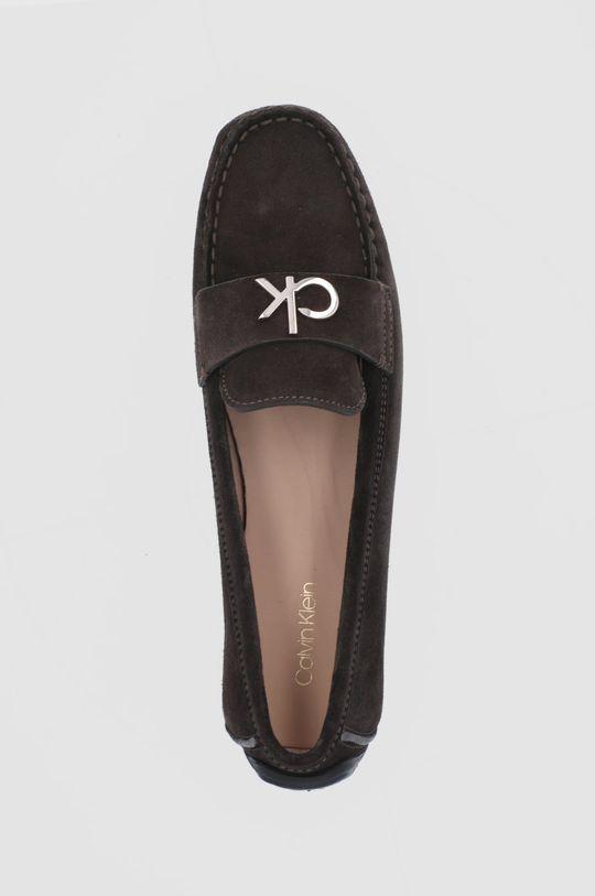 ciemny brązowy Calvin Klein - Mokasyny zamszowe