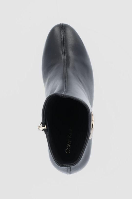 czarny Calvin Klein - Botki skórzane