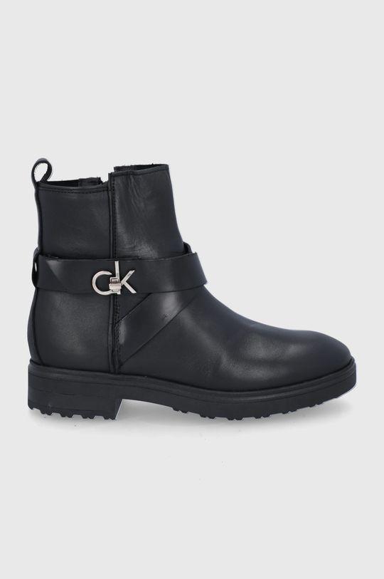 czarny Calvin Klein - Botki skórzane Damski
