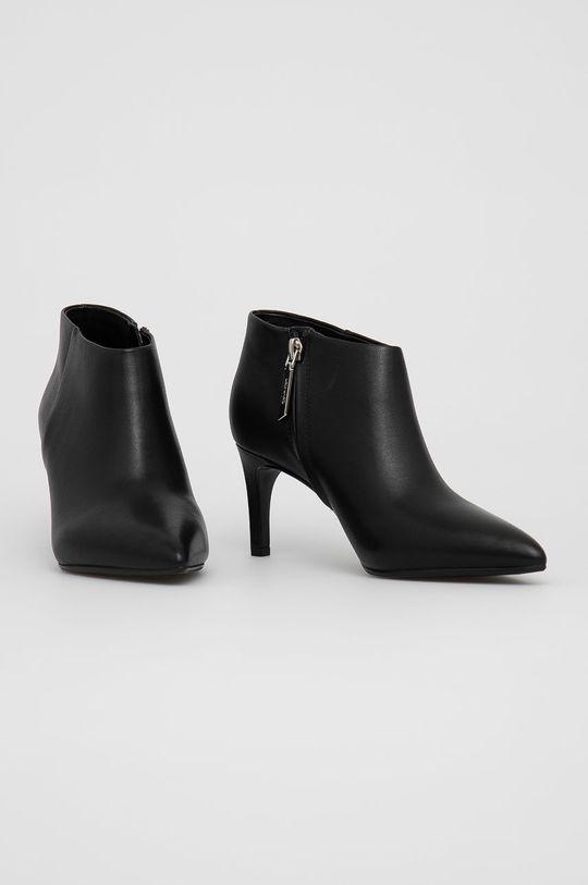 Calvin Klein - Botki skórzane czarny