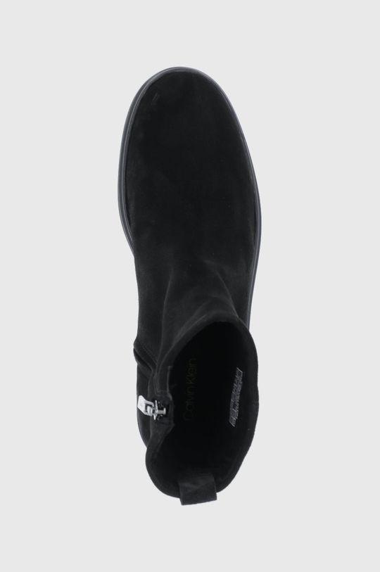 czarny Calvin Klein - Botki zamszowe
