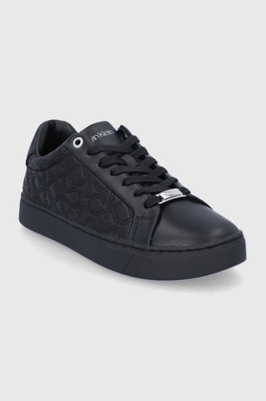 Calvin Klein - Buty skórzane czarny
