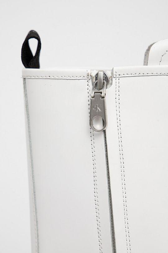 Calvin Klein Jeans - Workery skórzane Cholewka: Skóra naturalna, Wnętrze: Materiał tekstylny, Podeszwa: Materiał syntetyczny