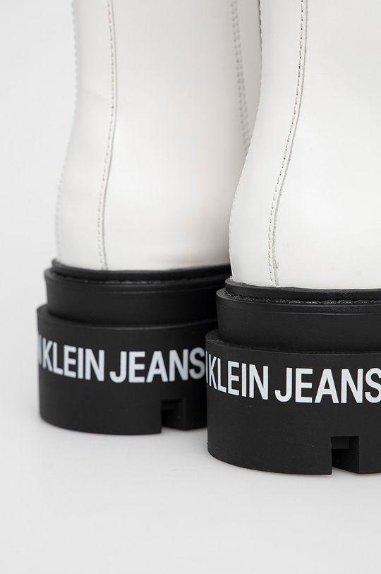 biały Calvin Klein Jeans - Workery skórzane