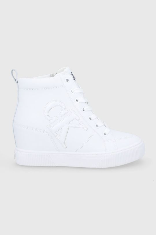 biały Calvin Klein Jeans - Buty skórzane Damski