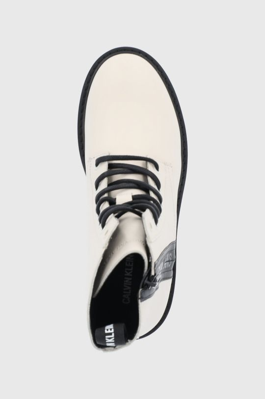 kremowy Calvin Klein Jeans - Workery skórzane