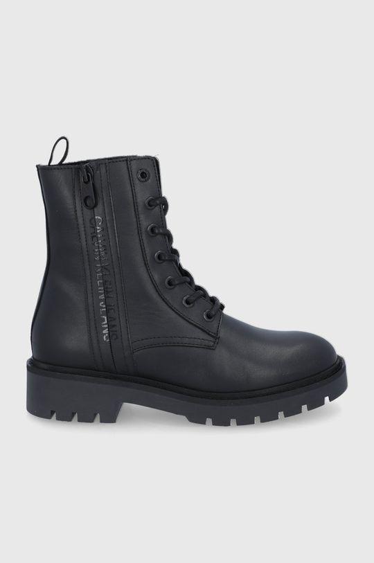 czarny Calvin Klein Jeans - Workery skórzane Damski