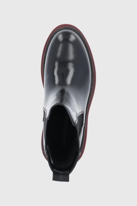 czarny Calvin Klein Jeans - Sztyblety skórzane