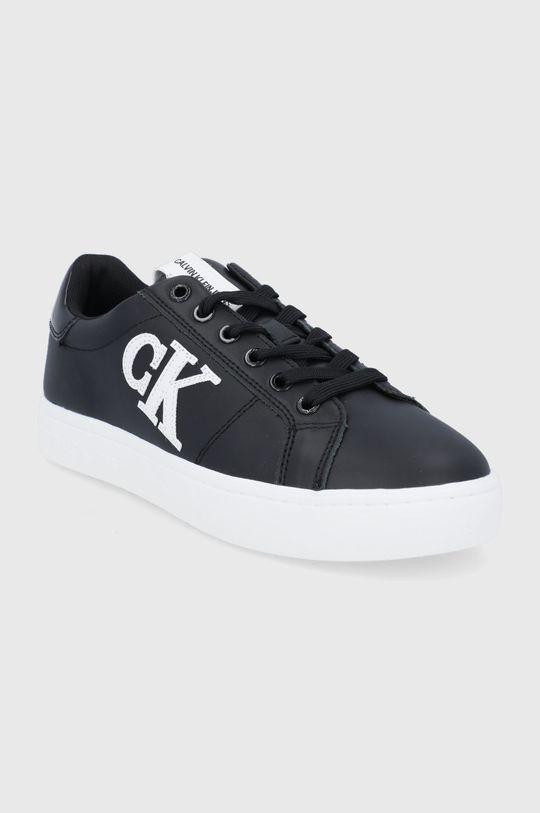 Calvin Klein Jeans - Buty skórzane czarny
