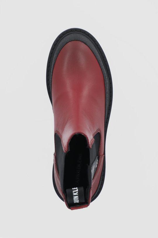 czerwony Calvin Klein Jeans - Sztyblety skórzane
