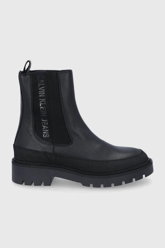 czarny Calvin Klein Jeans - Sztyblety skórzane Damski