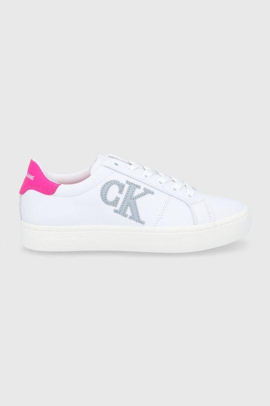 bílá Calvin Klein Jeans - Kožené boty Dámský