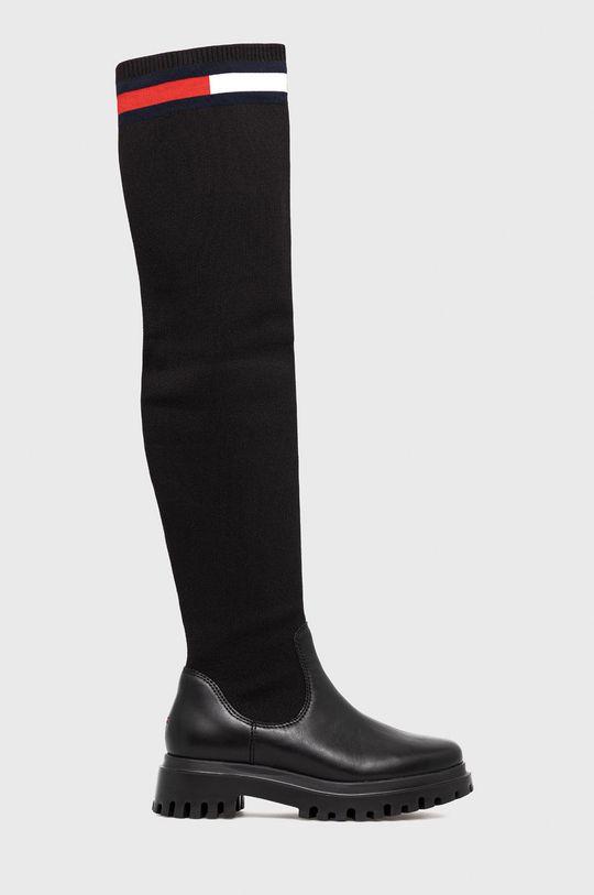 μαύρο Tommy Jeans - Μπότες Γυναικεία