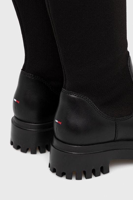 Tommy Jeans - Μπότες  Πάνω μέρος: Υφαντικό υλικό, Φυσικό δέρμα Εσωτερικό: Υφαντικό υλικό Σόλα: Συνθετικό ύφασμα
