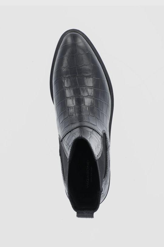 czarny Vagabond - Sztyblety skórzane Frances