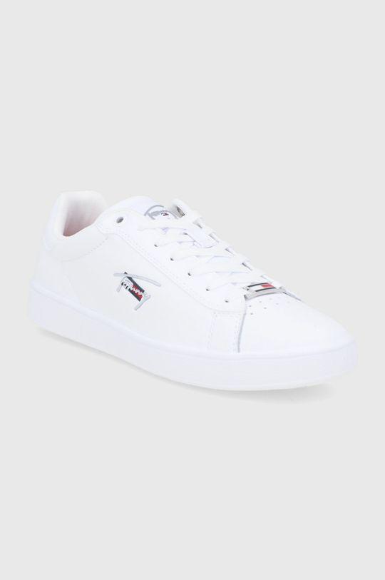 Tommy Jeans - Kožené boty bílá