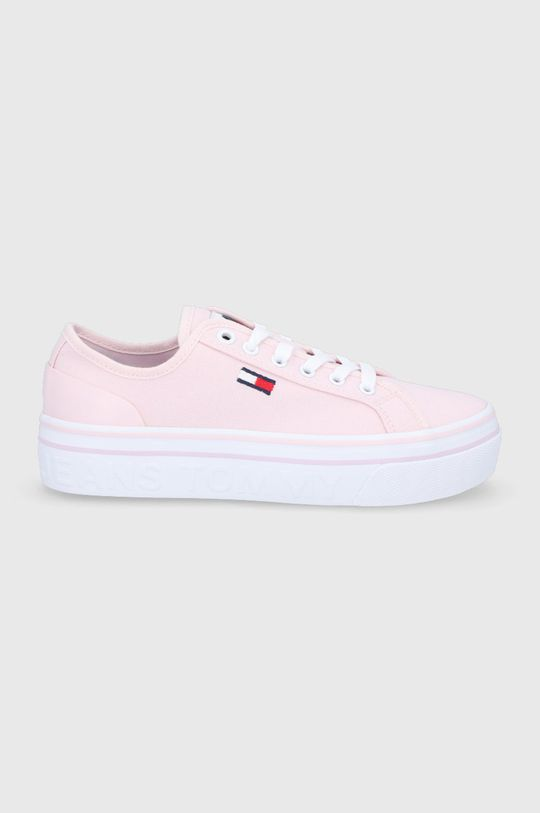 pastelowy różowy Tommy Jeans - Tenisówki Damski