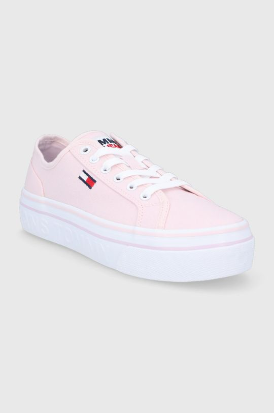 Tommy Jeans - Tenisówki pastelowy różowy