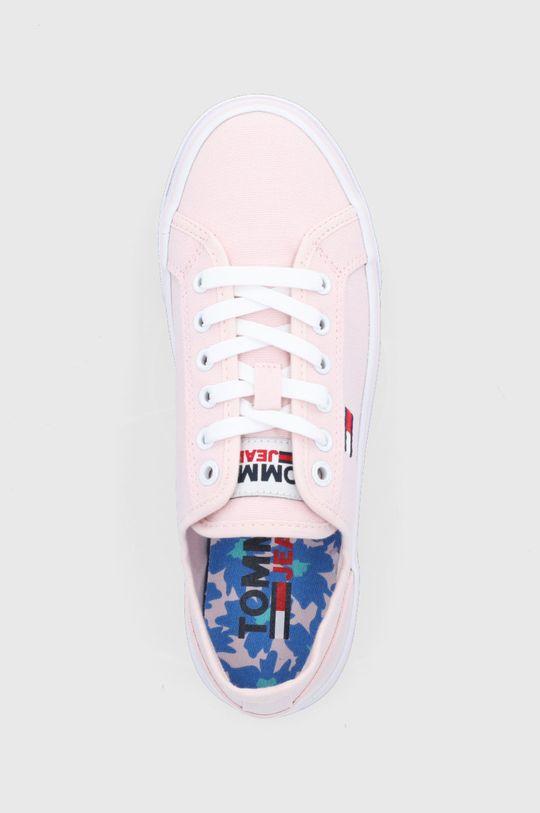 pastelowy różowy Tommy Jeans - Tenisówki