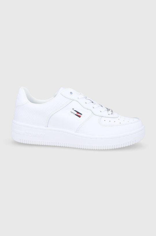 bílá Tommy Jeans - Kožené boty Dámský