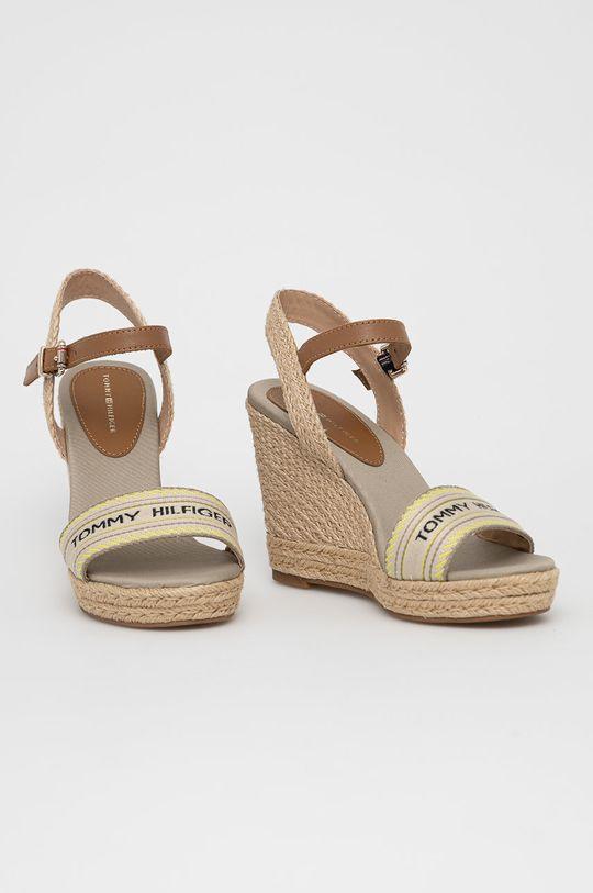 Tommy Hilfiger - Sandały złoty brąz