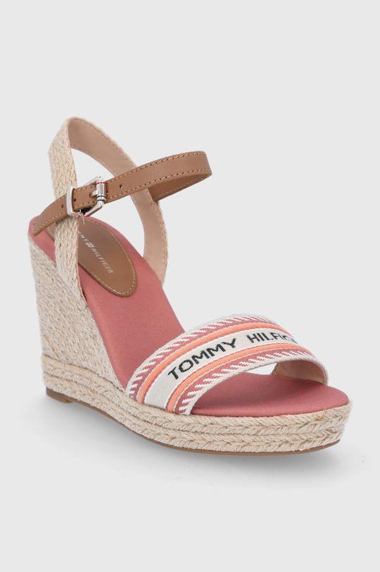 Tommy Hilfiger - Sandály fialovo-růžová