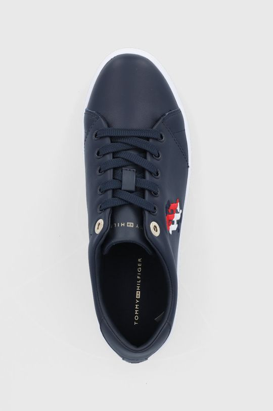 tmavomodrá Tommy Hilfiger - Kožená obuv