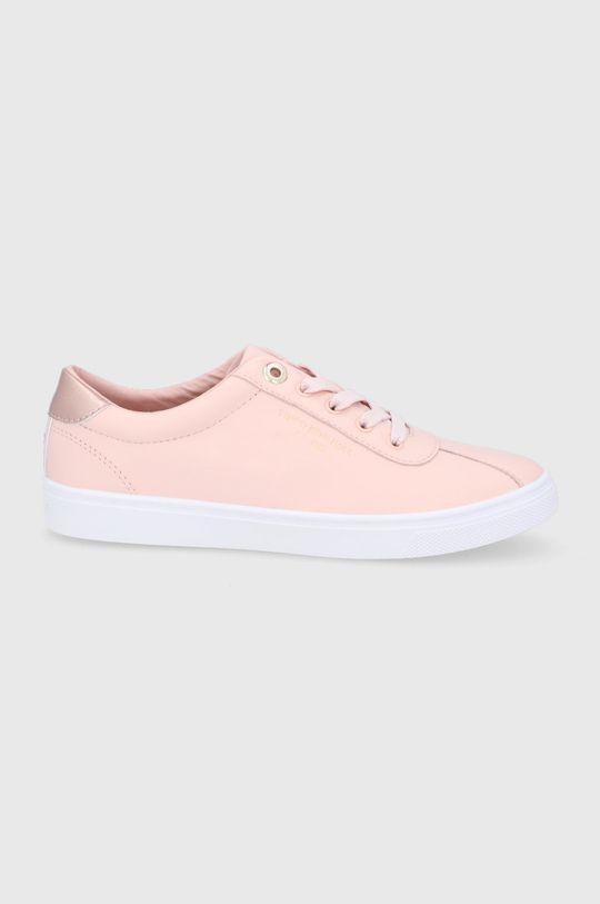 pastelově růžová Tommy Hilfiger - Kožené boty Dámský