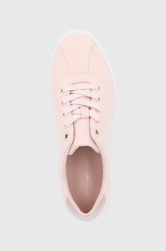 pastelově růžová Tommy Hilfiger - Kožené boty