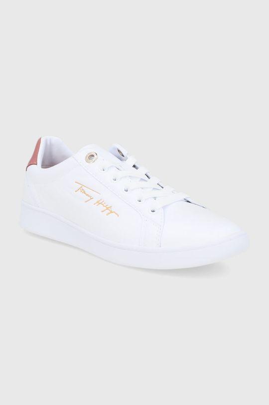 Tommy Hilfiger - Kožené boty bílá
