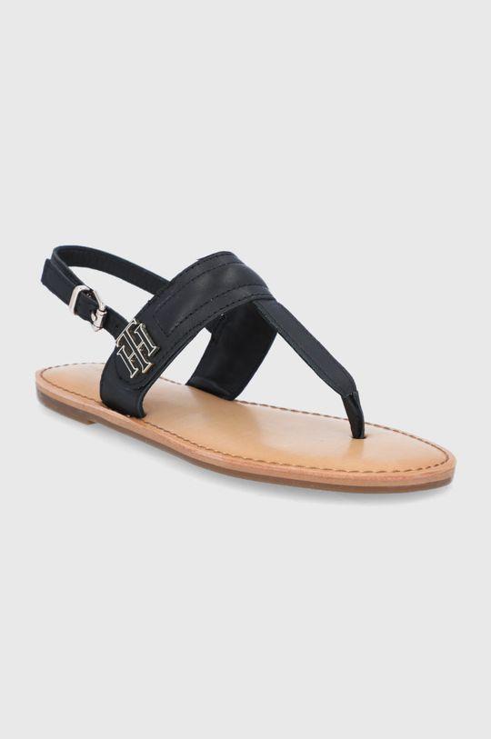 Tommy Hilfiger - Sandały skórzane czarny