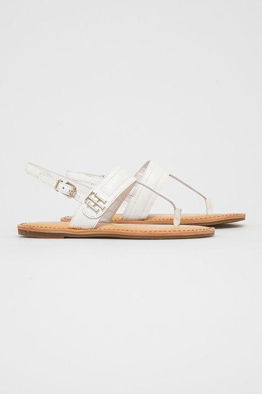 Tommy Hilfiger - Kožené sandály bílá
