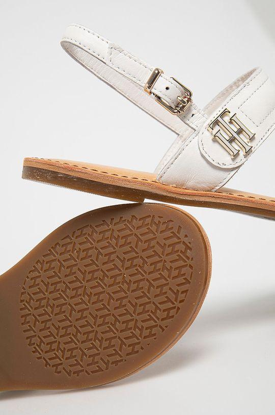 bílá Tommy Hilfiger - Kožené sandály
