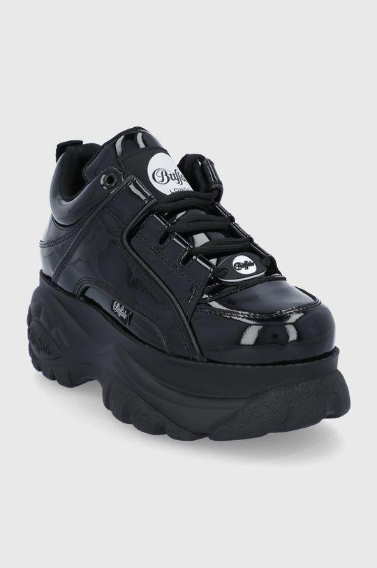 Buffalo - Kožené boty London černá