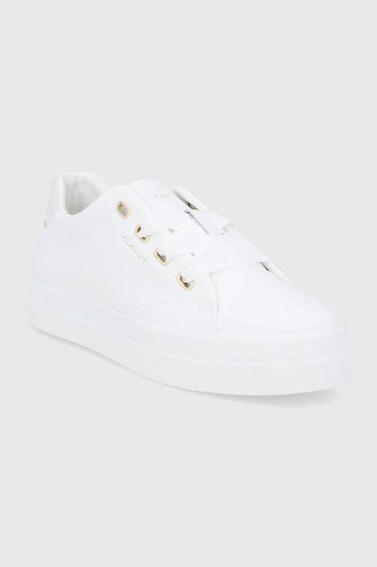 Gant - Buty skórzane Avona biały