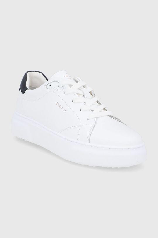 Gant - Buty skórzane Coastride biały