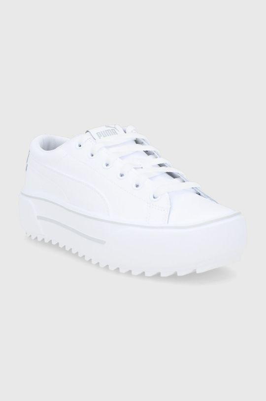 Puma - Buty skórzane Kaia Platform biały