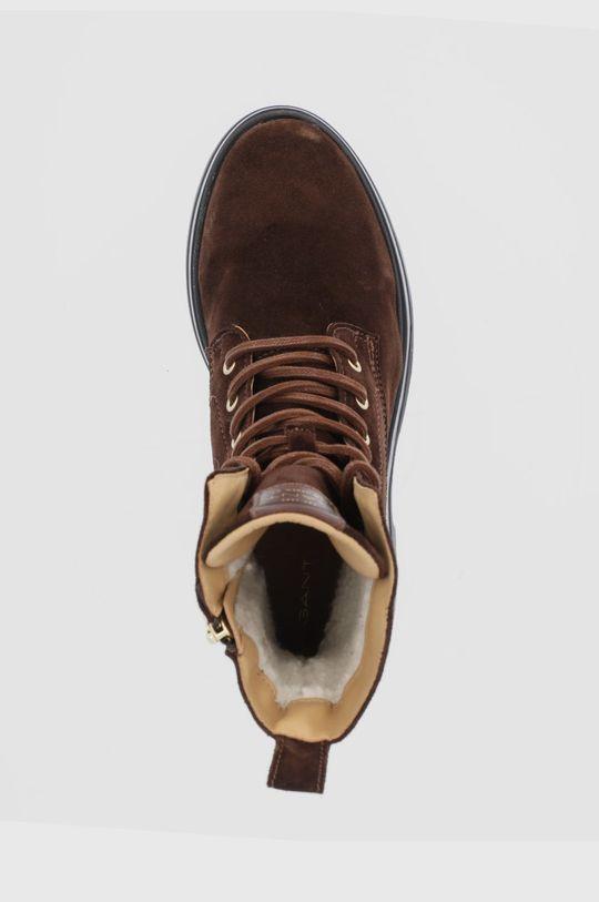 ciemny brązowy Gant - Workery zamszowe Windpeak