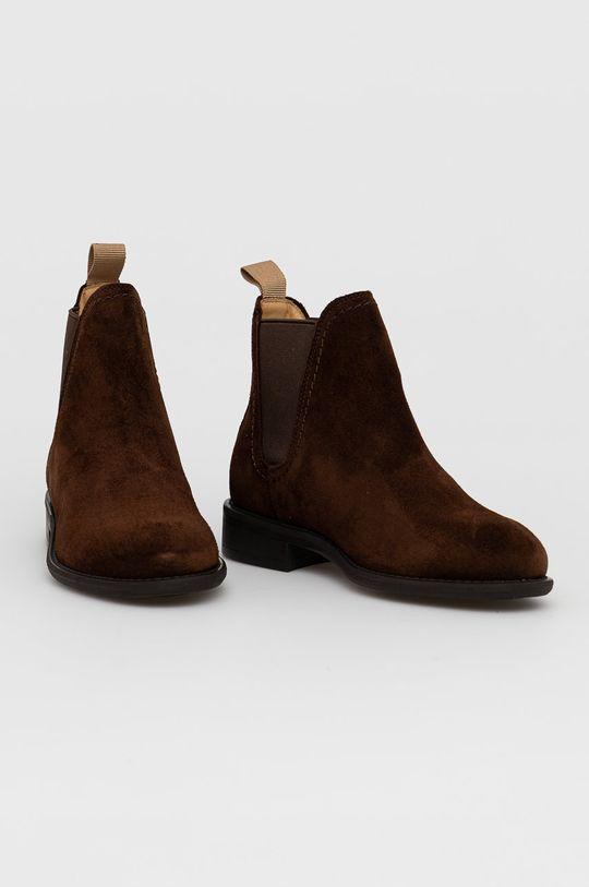 Gant - Sztyblety zamszowe Ainsley ciemny brązowy