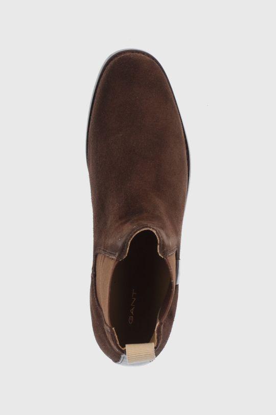 ciemny brązowy Gant - Sztyblety skórzane Fayy