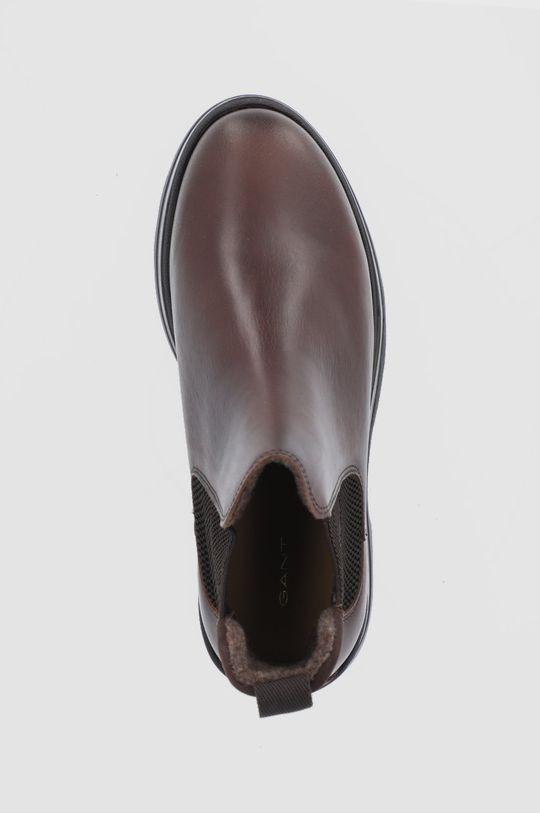 ciemny brązowy Gant - Sztyblety skórzane Windpeak