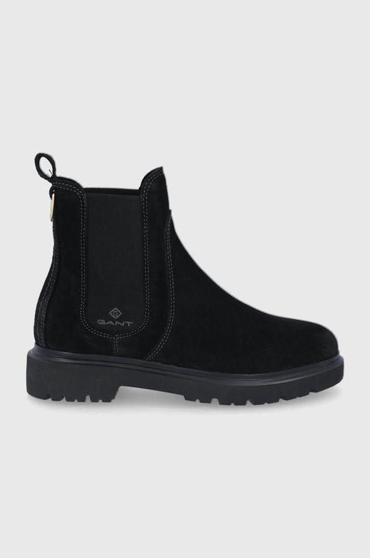 čierna Gant - Semišové topánky Chelsea Malinca Dámsky