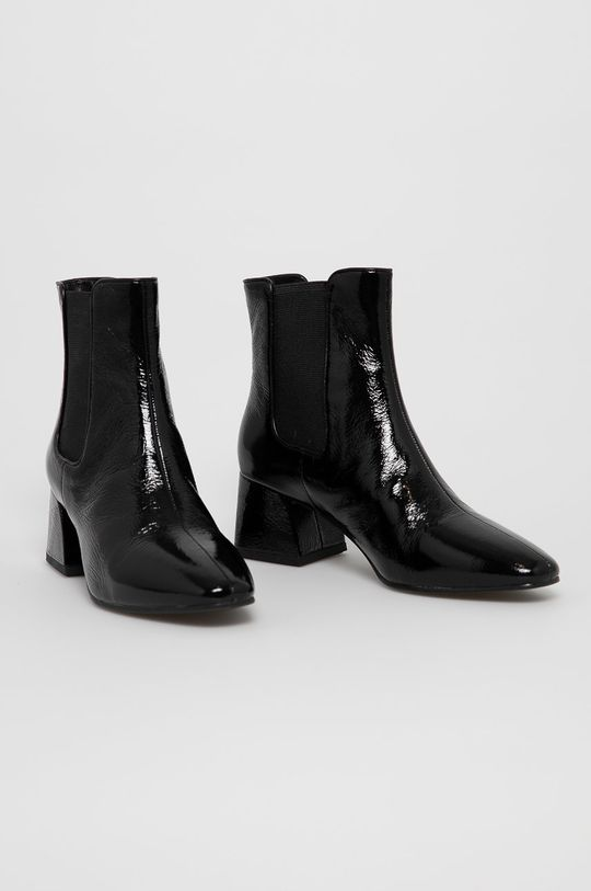 Vagabond - Kožené kotníkové boty ALICE černá