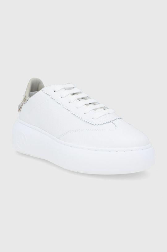 Armani Exchange - Buty skórzane biały